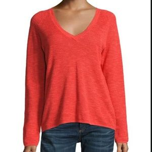 Eileen Fisher Orange Organic Linen/Cotton Sweater